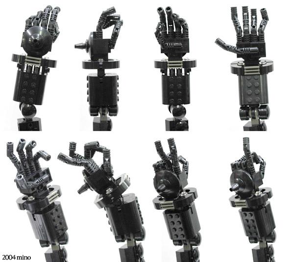 Black King Robot - dłonie