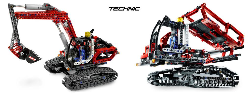 Koparka (LEGO Technic) - drugim pojazdem do wybudowania jest wywrotka na gąsienicach